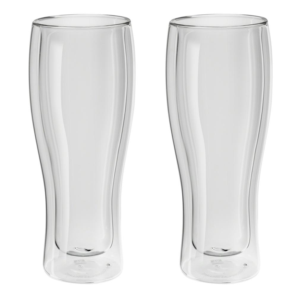 Zwilling Sorrento - Kit 2 Copos Vidro Parede Dupla Cerveja 414 ml